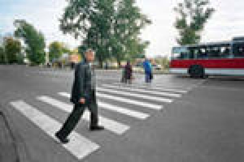 На Ульяновском наехали на пешехода на пешеходном переходе